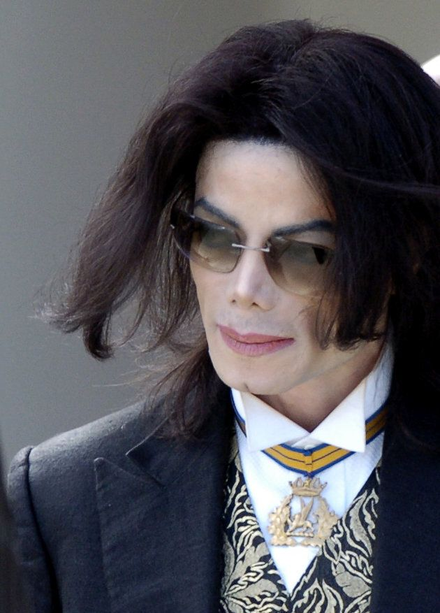 Pop star Michael Jackson leaves the Santa Barbara County Courthouse after his child molestation trial in Santa Maria, Calif. on March 29, 2005.