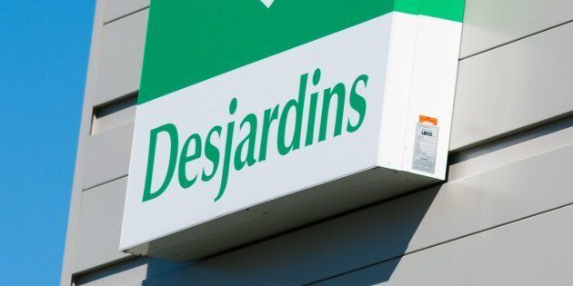 The Desjardins logo on a building in