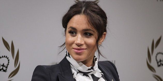 Meghan Markle participates in a panel on International Women's Day for the Queen's Commonwealth Trust.