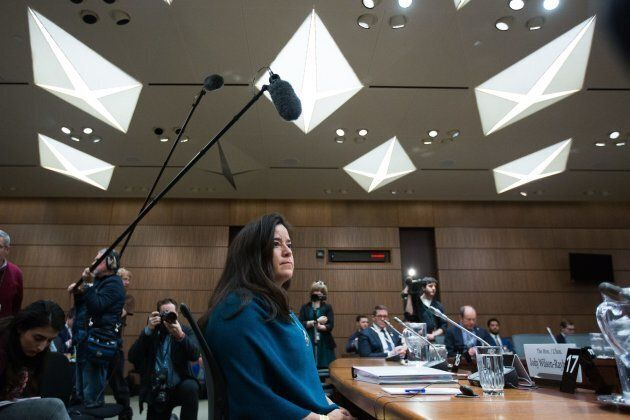 Former Canadian justice minister Jody Wilson-Raybould prior to giving her testimony about the SNC-Lavalin...