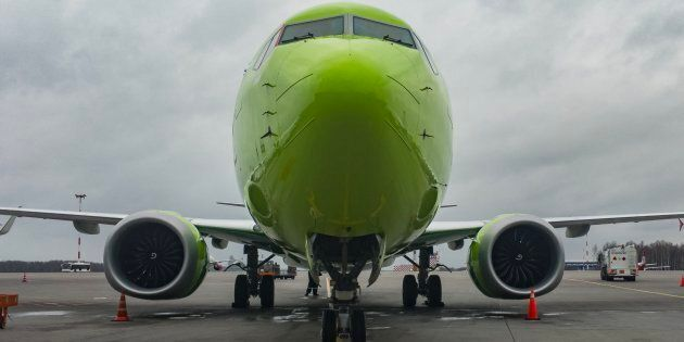 A new Boeing 737 MAX 8 operated by S7 Airlines at Pulkovo International Airport, Saint Petersburg, Russia,...