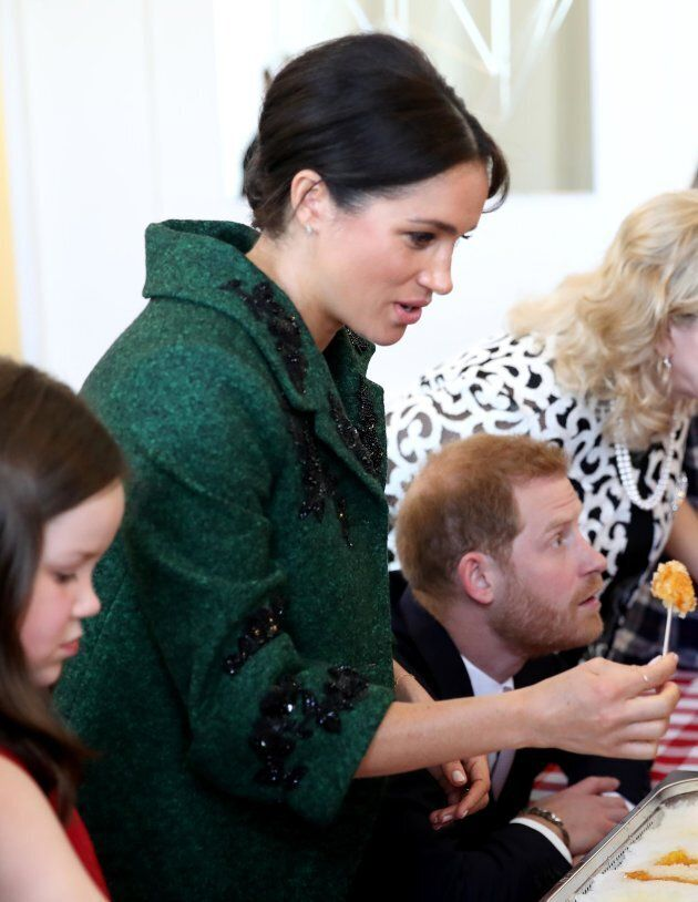 Meghan looks scared. Scared of how good it will be,