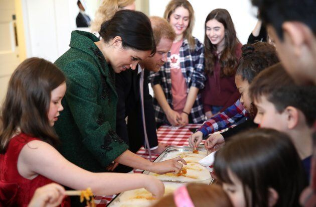 Harry and Meghan at Canada House on
