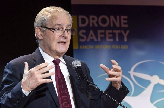 Transport Minister Marc Garneau during a news conference in Montreal on Jan. 9,