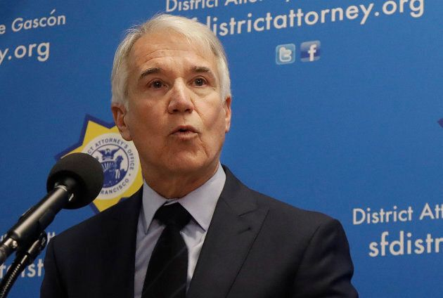 San Francisco District Attorney George Gascon speaks at news conference in San Francisco, Calif. on Feb. 21, 2018.