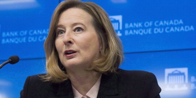 Bank of Canada senior deputy governor Carolyn Wilkins at a news conference in Ottawa, Wed. Jan. 17,
