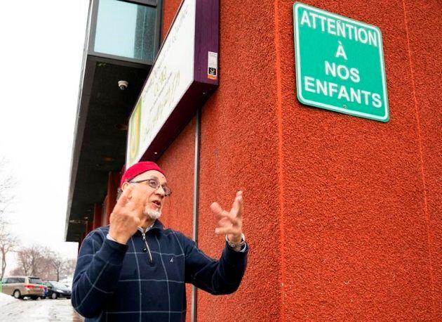 Quebec Islamic cultural centre president Boufeldja Benabdallah walks out of the Islamic Cultural Centre,...