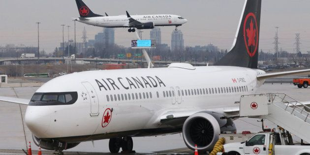 An Air Canada Boeing 737 MAX 8 from San Francisco approaches for landing at Toronto Pearson International...