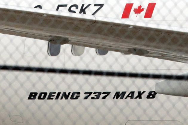 An Air Canada Boeing 737 MAX 8 aircraft is seen on the ground at Toronto Pearson International Airport...