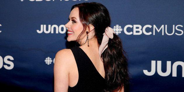 Tessa Virtue attends the 2019 Juno Awards.
