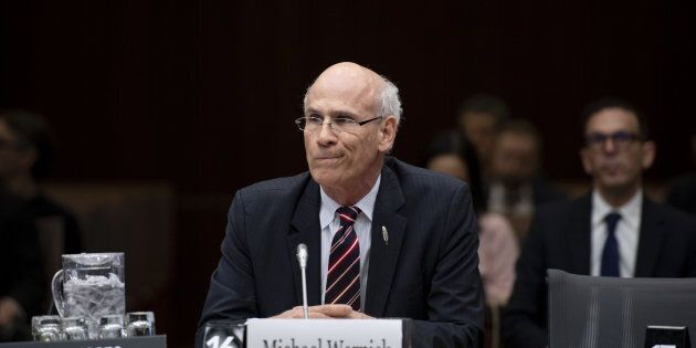 Clerk of the Privy Council Michael Wernick prepares to appear before the Standing Committee on Justice...