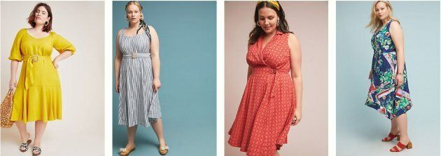 Dresses from Anthropologie's new plus-sized collection APlus.