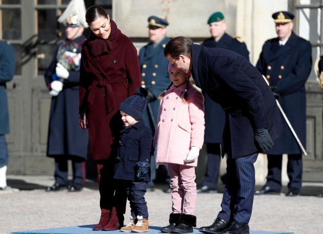 Princess Victoria of Sweden, probably telling Oscar through gritted teeth that, FINE, he can have a