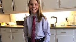 Ella-Grace Trudeau Rocks A Suit For 'Dress Like Your Parent