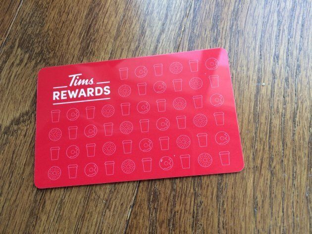 Customers can get a plastic rewards card at Tim Hortons locations, or use an app