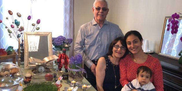 The Shafaee family celebrating Nowruz last