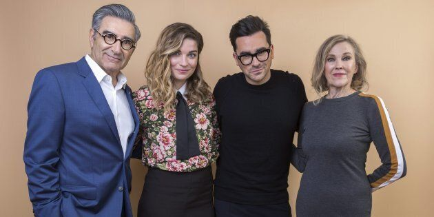 Eugene Levy, Annie Murphy, Daniel Levy and Catherine O'Hara of