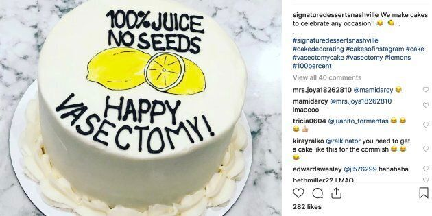 Vasectomy cakes are becoming quite popular, as Signature Desserts in Nashville