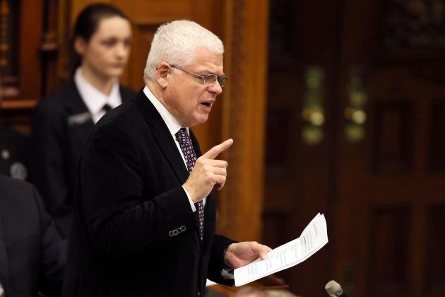 NDP MPP Peter Tabuns speaks during question period at Queen's Park in Toronto on Feb. 21,