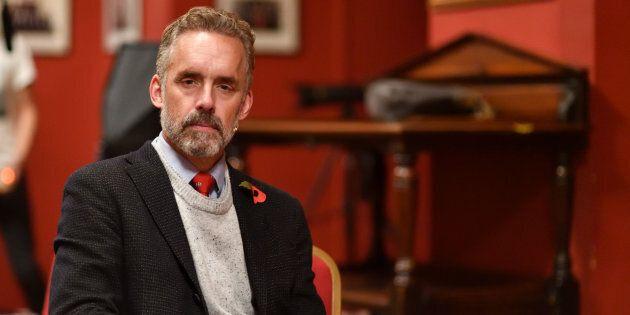 Portrait of Jordan Peterson at the Cambridge Union on Nov. 02,