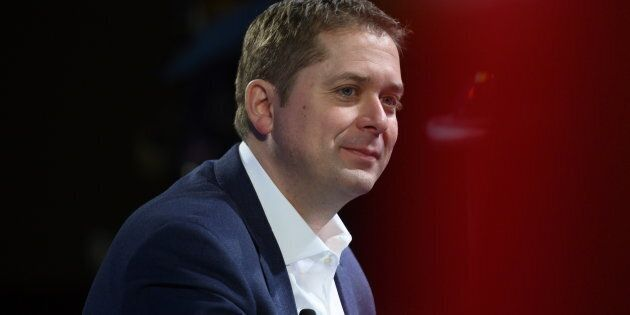 Conservative leader Andrew Scheer participates in an armchair discussion at the Manning Networking Conference in Ottawa.