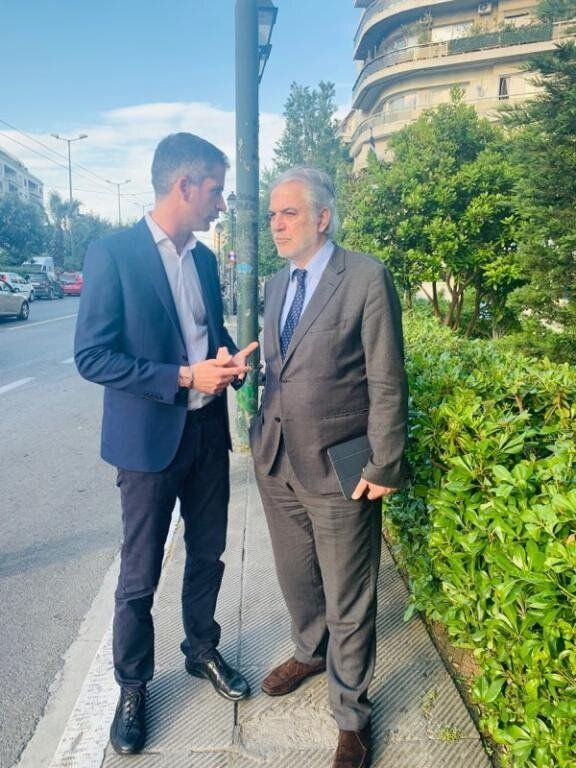 O Kώστας Μπακογιάννης με τον Επίτροπο Χρήστο Στυλιανίδη για Προγράμματα Εκπαίδευσης της