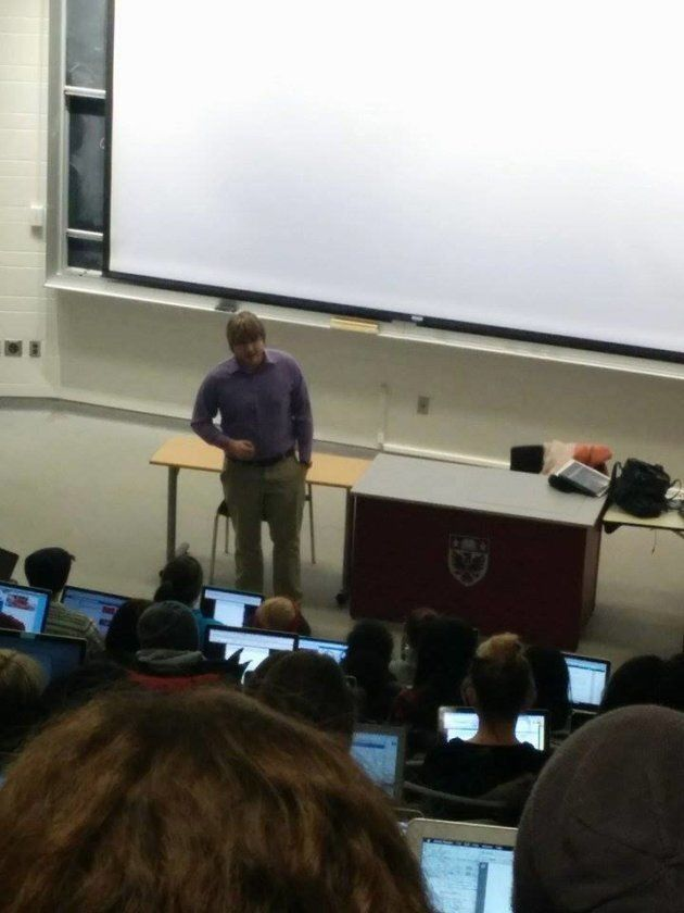 Lecturing to students during my time at McMaster University about the importance of engaging with their...