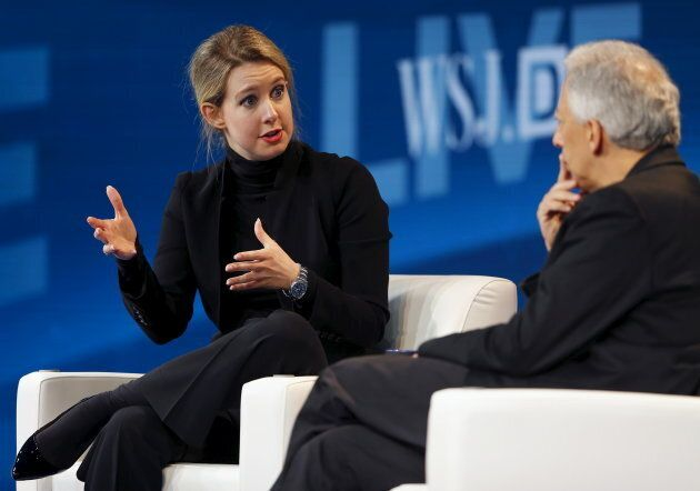 Elizabeth Holmes, founder and CEO of Theranos on Oct. 21, 2015. R