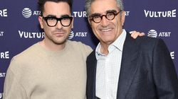 Dan And Eugene Levy Do Some Father-Son Bonding In Slang