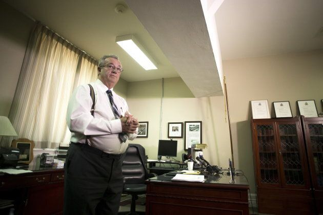 Ontario MPP Randy Hillier speaks to journalists in his office at the Ontario legislature in Toronto on