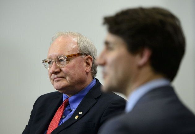 Prime Minister Justin Trudeau meets with Premier of Prince Edward Island Wade MacLauchlan in Ottawa on...