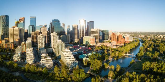 An aerial view of downtown Calgary. The city ranks has the most affordable housing market of any major...