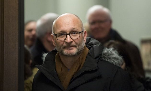 Justice Minister David Lametti leaves a caucus meeting on Parliament Hill in Ottawa on Feb. 27,