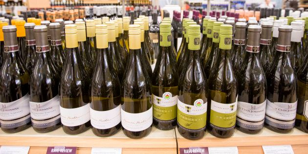 Wine offerings at the LCBO located at Queens Quay and Cooper Street in