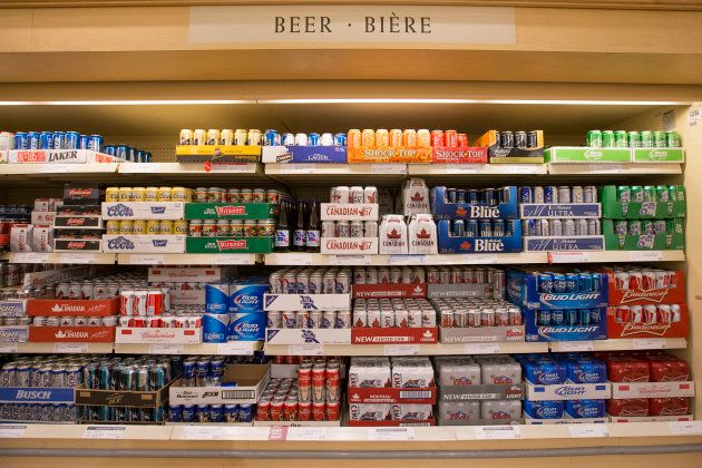 Beer offerings at the LCBO located at Queens Quay and Cooper Street in
