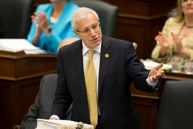 Finance Minister Vic Fedeli during question period at the Ontario