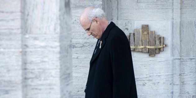 Clerk of the Privy Council Michael Wernick leaves Rideau Hall following a cabinet shuffle in Ottawa on...