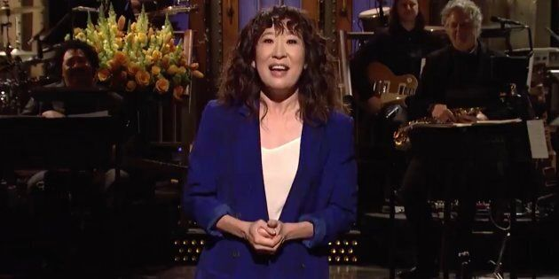 Sandra Oh delivers her opening monologue