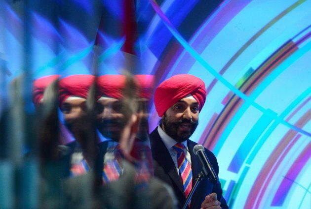 Innovation, Science and Economic Development Minister Navdeep Bains takes part in a technology event...