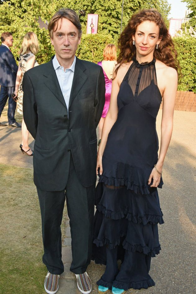 David, Marquess of Cholmondeley, and his wife Rose attend The Serpentine Gallery summer party at The Serpentine Gallery on July 2, 2015 in London, England.