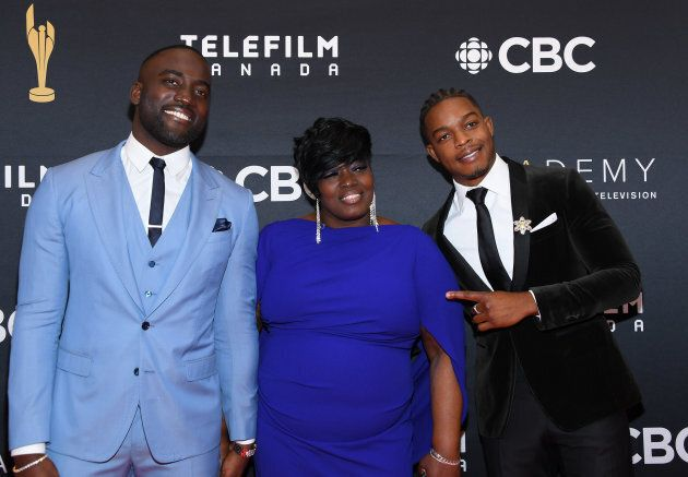 Shamier Anderson, Carmeleta Anderson and Stephan James attend the 2019 Canadian Screen Awards Broadcast...