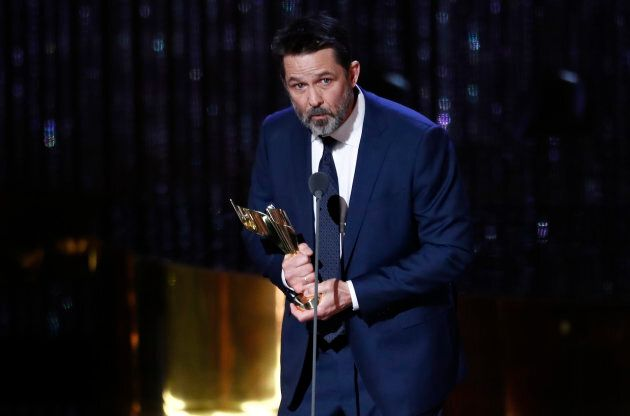 Billy Campbell accepts the award for best lead actor in a limited series for