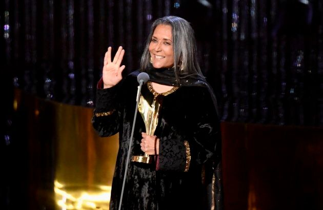 """Deepa Mehta tells the audience at the Canadian Screen Awards to """"Live long and prosper, and kick ass."""""""
