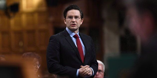 Conservative MP Pierre Poilievre speaks in the House of Commons on May 22,