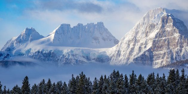 File photo of the Rocky Mountains in Banff National Park in winter.