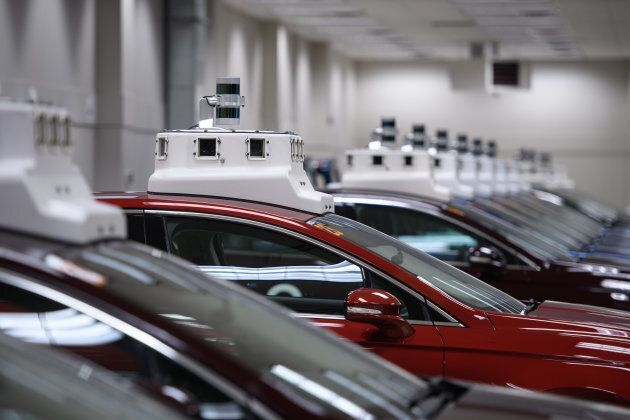 Cameras are seen on the roofs of autonomous vehicles.