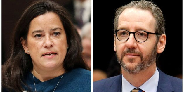 Jody Wilson-Raybould and Gerald Butts are seen in this combination photo testifying before the House...