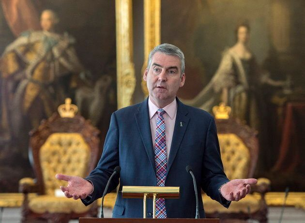 Premier Stephen McNeil attends a bill briefing at the legislature in Halifax on April 2,