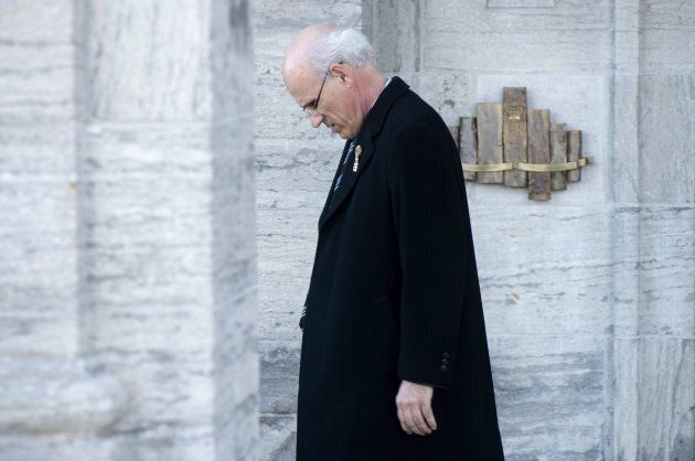 Wernick leaves Rideau Hall following a cabinet shuffle in Ottawa on March 18,