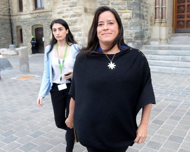 Ex-Liberal MP Jody Wilson-Raybould leaves Parliament Hill after a short visit in Ottawa on April 2,